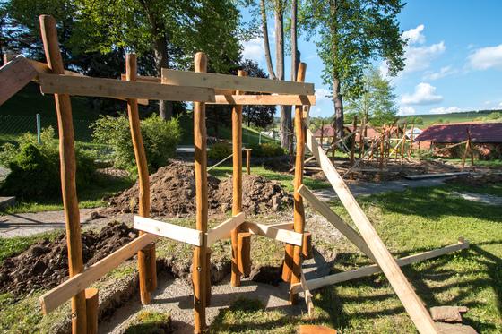 Výstavba dětských hřišť